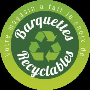 étiquette - barquettes recyclables